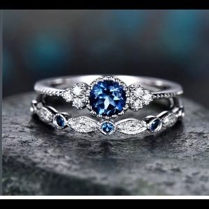 🍃(118) Round Cut Sapphire Ring